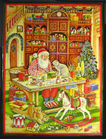 Santa in his workshop