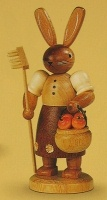 Gardener Rabbit Shovel Fruit Figurine