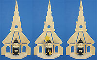 Carolers in Church Ornaments Set of Three