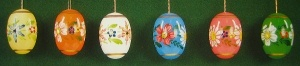 Beautiful Painted Easter Eggs Set of 6
