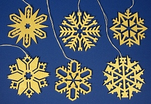 Snowflakes Six Crystals Ornaments 6cm