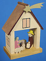 Ornament House with Holy Family