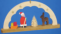Arch Ornament with Santa