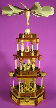 This is a traditional German Candle Pyramid telling the nativity story.